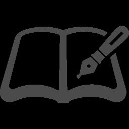 ペン付きのノートアイコン素材