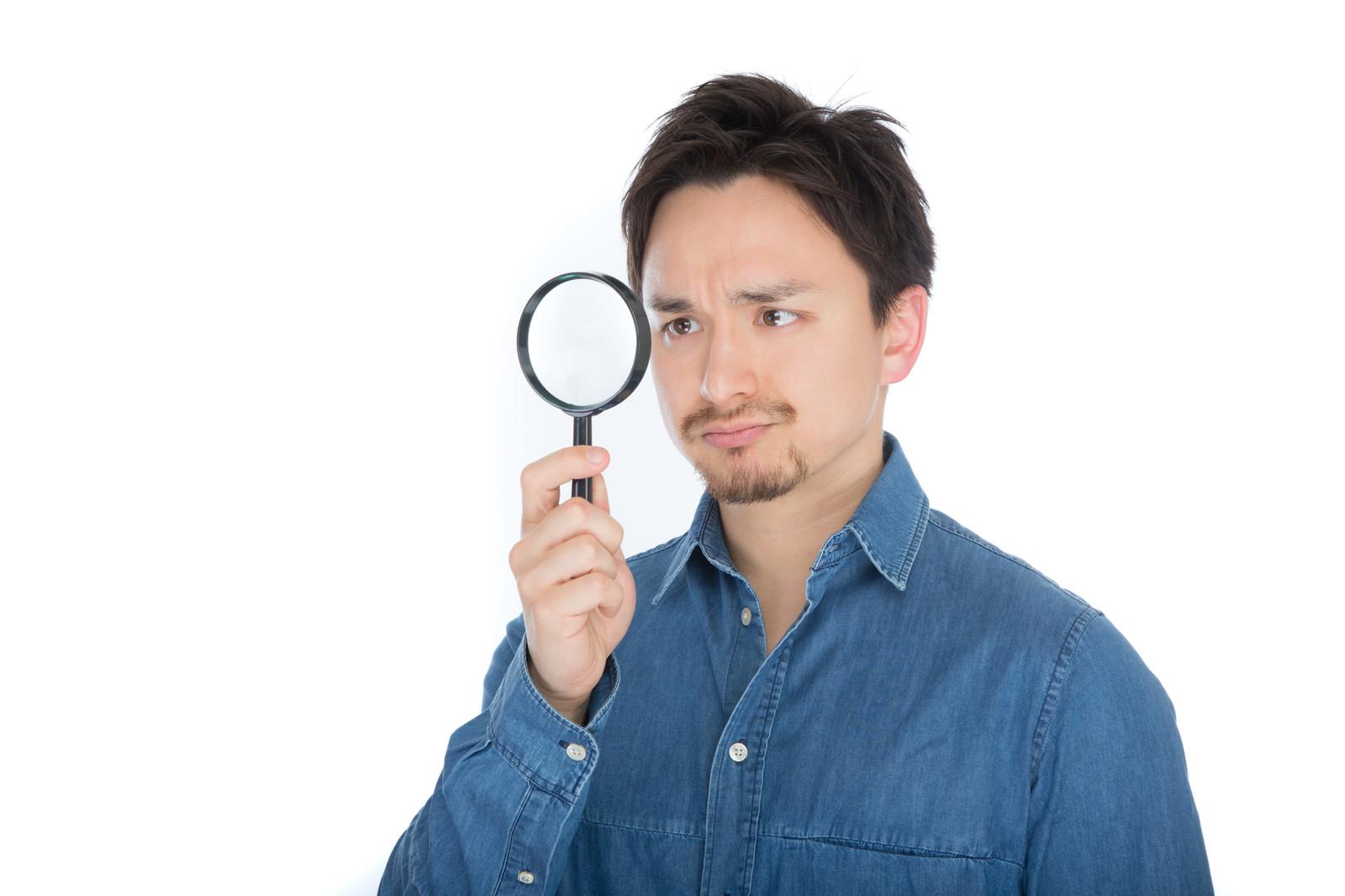 男性_虫眼鏡