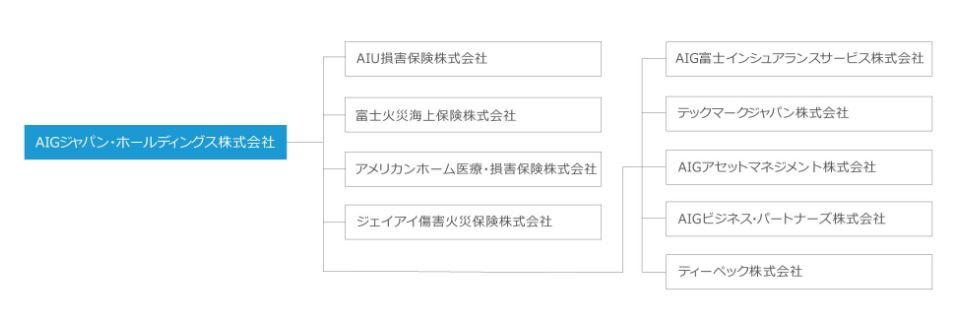 AIGジャパン・ホールディングスのグループ概要