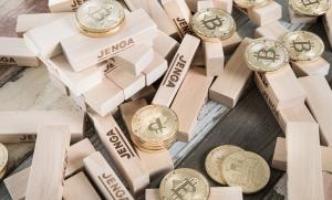 積み木とコイン