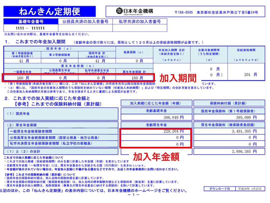 厚生年金の加入期間・受給金額の確認方法