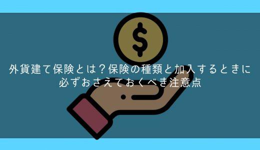外貨建て保険とは?保険の種類と加入するときに必ずおさえておくべき注意点