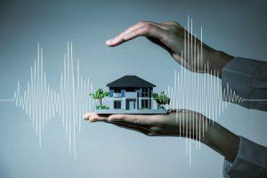 家の模型と波動
