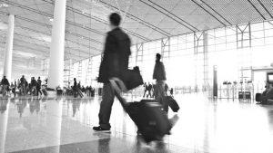空港の風景セピア