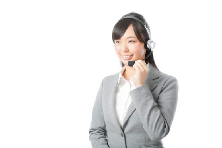 コールセンター風の女性