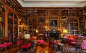 豪邸の書斎