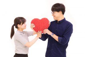 夫婦とハート