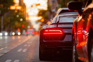自動車のテールランプ
